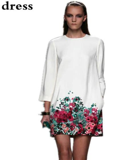 Xxxl Dress summer 2015 casual dress sleeve flower print