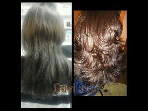 imagenes de cortes de pelo en capas tutorial de corte en capas facil youtube