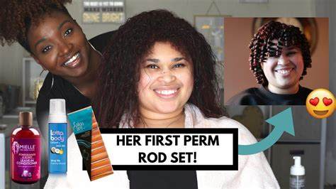 perm rod set for heat damaged transitioning natural hair perm rod set on heat trained damaged hair natural hair