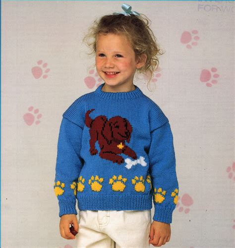 knitting pattern puppy jumper childrens sweater knitting pattern pdf childrens jumper