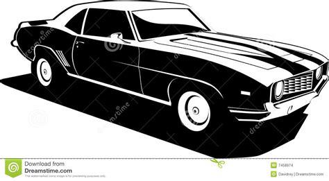 imagenes a blanco y negro de carros camaro blanco y negro imagenes de archivo imagen 7458974