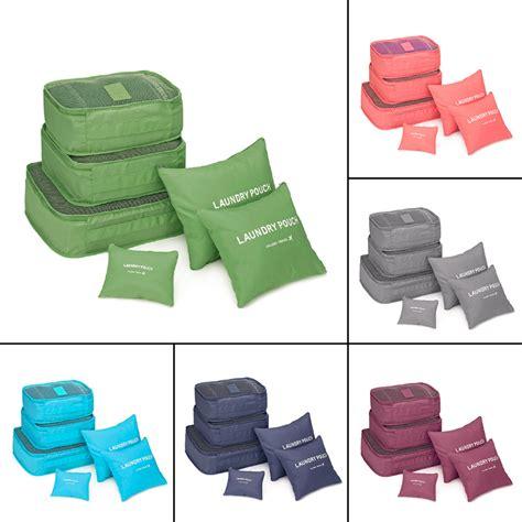 7 In 1 Travel Bag Organizer korean style 6 pcs set travel home luggage storage bag clothes storage organizer portable pouch