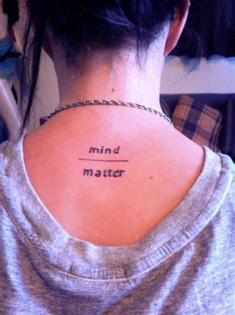mind over matter tattoos mind matter ink