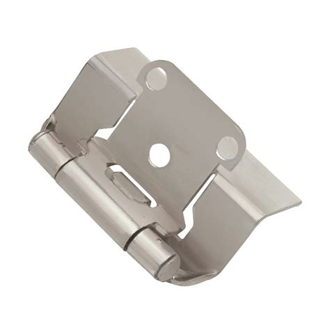 wrap cabinet hinges hickory hardware wrap 1 2 quot overlay hinge pair satin