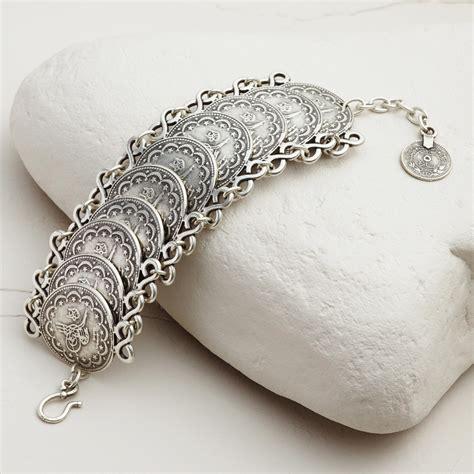 large silver coin statement bracelet world market