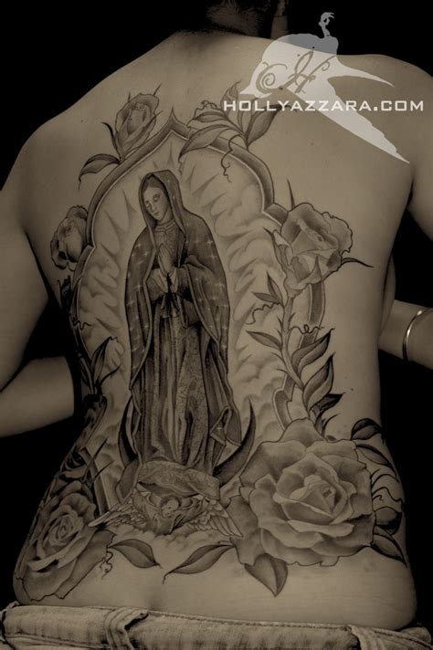 virgin mary back tattoo of heaven tattoos