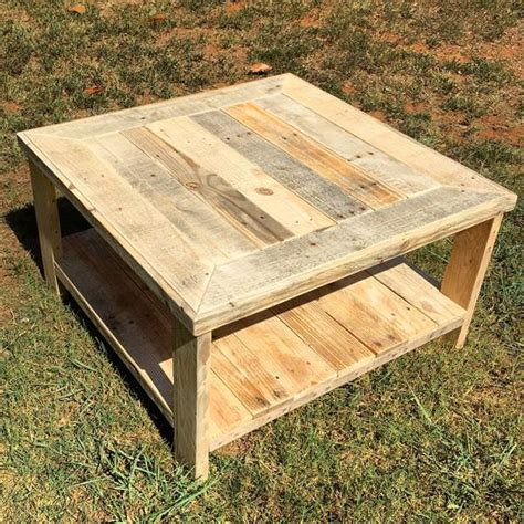 pallet wood square coffee table pallet furniture diy