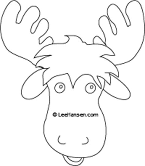moose template moose coloring page or mask template