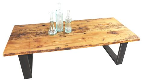 growth reclaimed pine coffee table rustic coffee
