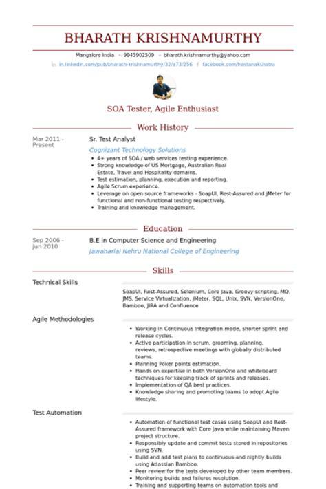 Epic Consultant Sle Resume by Test Analyst Cv Beispiel Visualcv Lebenslauf Muster Datenbank