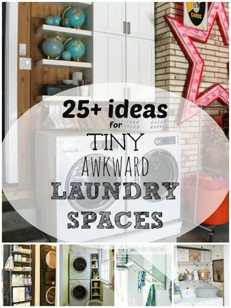 Apartment Kitchen Decorating Ideas On A Budget by Remodelaholic 25 Ideas For Small Laundry Spaces