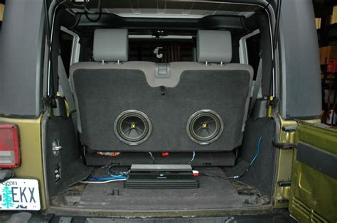 Jeep Wrangler Sub Box Subwoofer Enclosure Ideas In Your Back Seat Its A Jeep