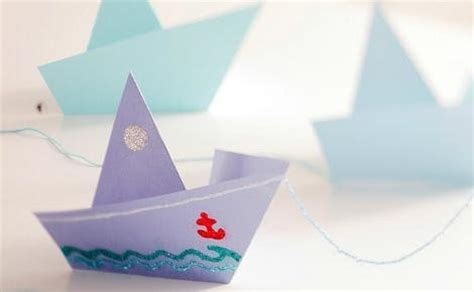 Craft Paper Boat - 10 crafts you remember from kindergarten