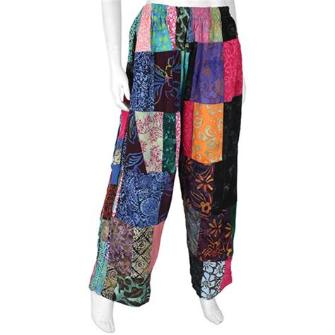 Patchwork Trousers - fair trade baggy patchwork trousers handmade balinese from