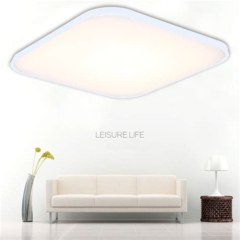 Square Ceiling Light Fixtures 64w Led Ceiling Light Dimmable Flush Mount Fixture Square L Remote White Ebay