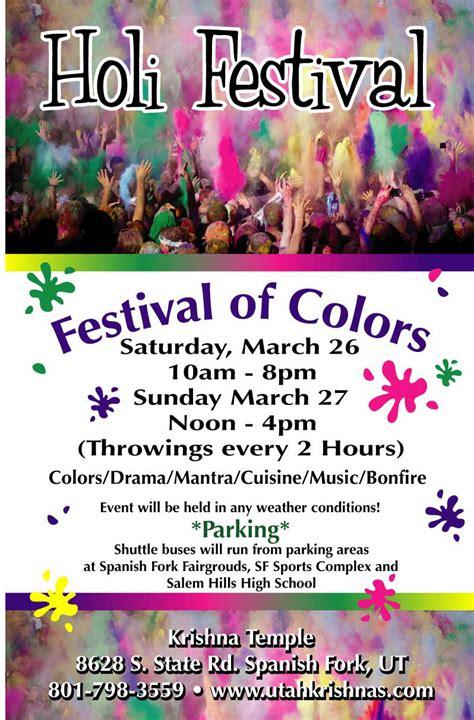 festival of colors utah utah travel headlines holi festival of colors will be