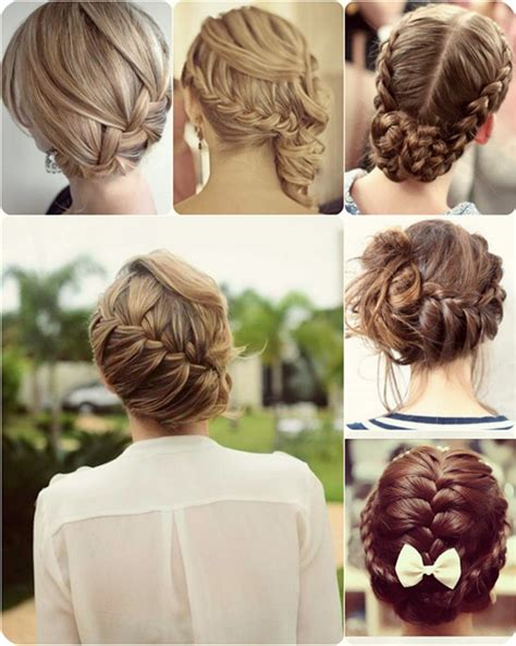 up to date braid styles updo hairstyles for short hair with braid