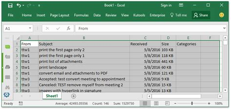 How To Search Outlook Email By Date How To Export Emails By Date Range To Excel File Or Pst