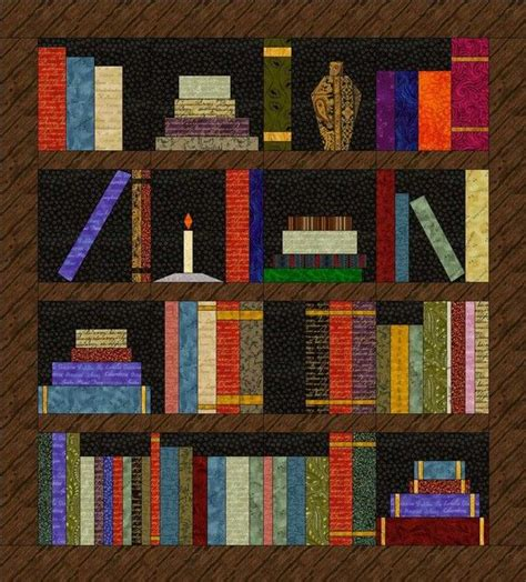 Quilt Pattern Bookshelf | pin by brenda mendenhall sacher on quilting projects