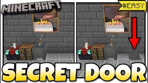 minecraft secret hidden door redstone tutorial mcpe
