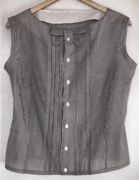 Sassy Blouse sassy librarian blouse collarless and sleeveless fabric