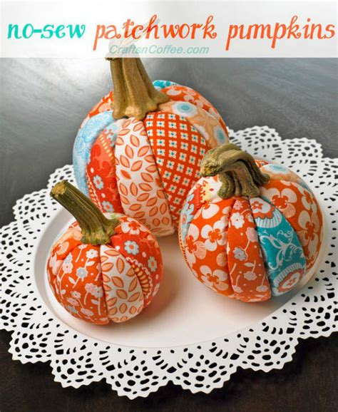 Patchwork Pumpkin - easy sewing projects for sew uber