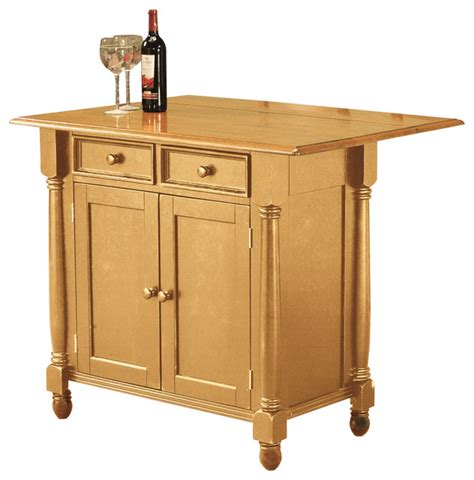 Oak Kitchen Carts And Islands | light oak kitchen island with drop leaf top kitchen