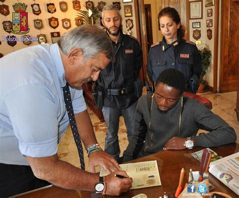 polizia di stato roma permesso di soggiorno nigeriano premiato con un permesso di soggiorno a roma