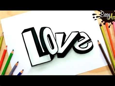 imágenes de i love you para dibujar dibujos love how to draw love 3d letters como dibujar