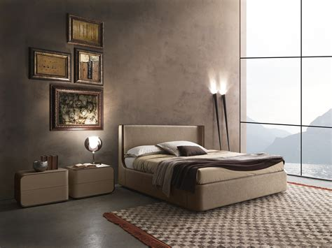 letti italiani contemporary style upholstered wooden bed callas by