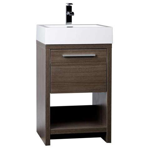 Modern Bathroom Vanity Set Grey Oak Free Shipping TN L500