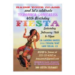 mexican fiesta pin up birthday party invitations 5 quot x 7