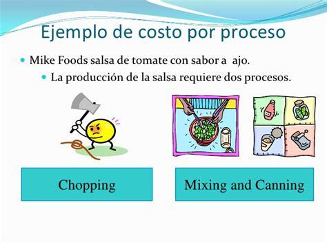 propuesta de un sistema de costo por procesos para las job costing process costing costo por projecto costos directos