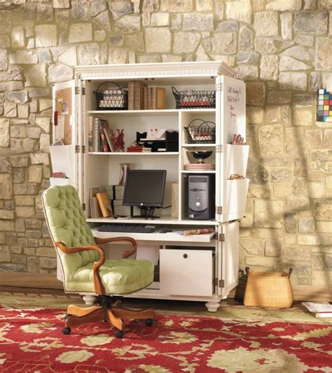 Small Home Office Armoire Small Home Office Cabinets Enhancing Space Saving Interior