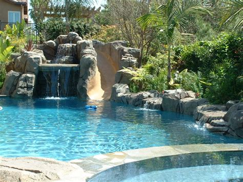 rock waterfalls for pools artificial rock pool with waterfall 11 aqua magic pool