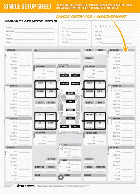 race car setup sheet template rocket race cars set up sheets pictures to pin on