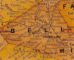 map of bell county crossville