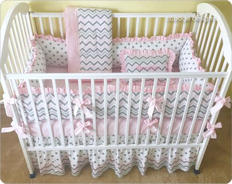 Pink And Gray Chevron Crib Bedding Set Baby Girl Crib Crib And Bedding Set
