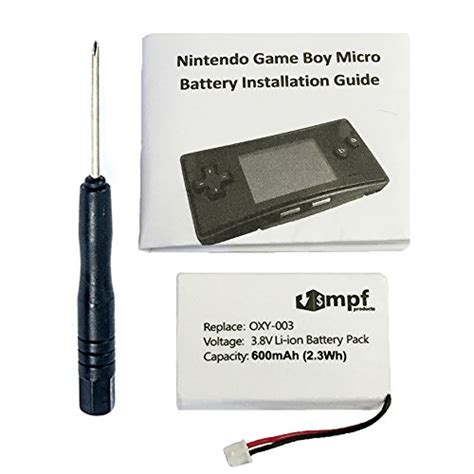 game boy micro model no oxy 001 600mah oxy 003 gpnt 02 battery replacement kit for