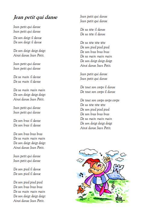 une histoire testo chanson jean petit qui danse paroles illustr 233 es de la