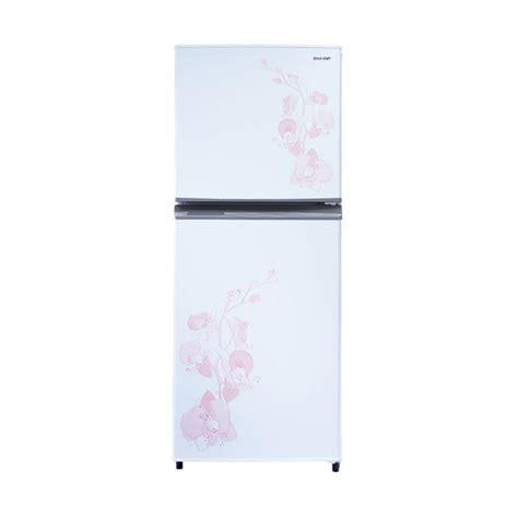 Tutup Freezer Sharp jual sharp sj 235md fw kulkas dua pintu harga
