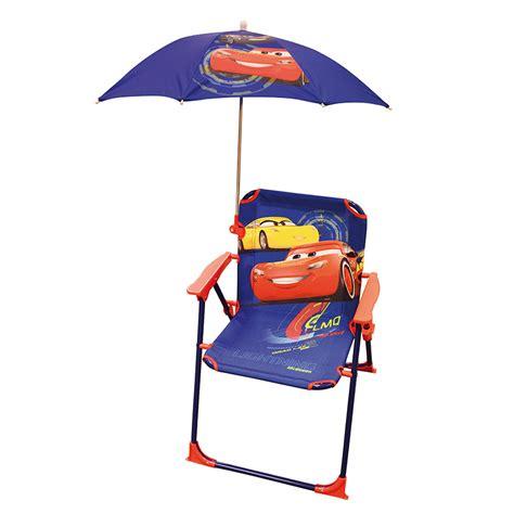 chaise cars chaise avec parasol cars oogarden