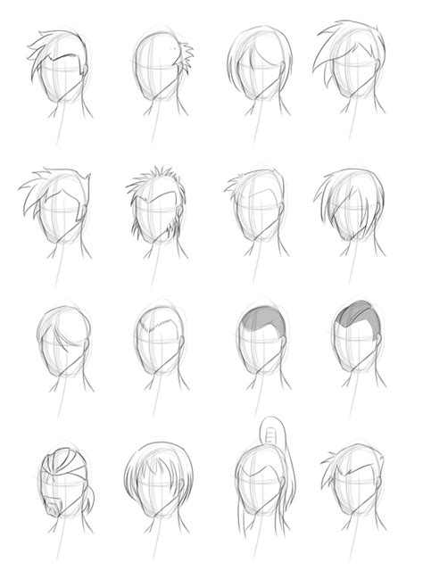 drawing hairstyles pdf male hairstyle practice by obhan on deviantart