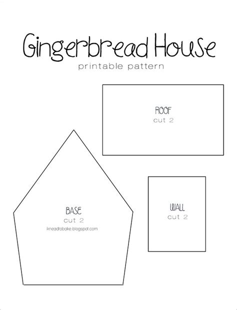 Simple Gingerbread House Template Printable | 11 gingerbread house templates free pdf document