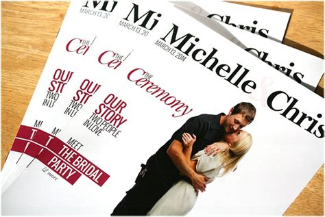 Wedding Program Book Cover by Unique Wedding Programs From Milwaukee S The Album Factory