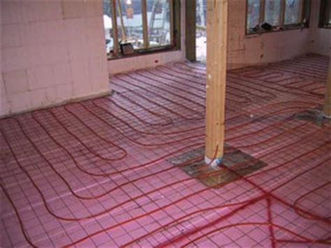 in floor heating house building