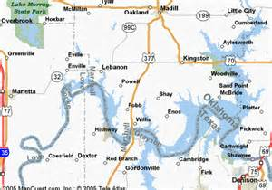 texoma map lake texoma visitors guide