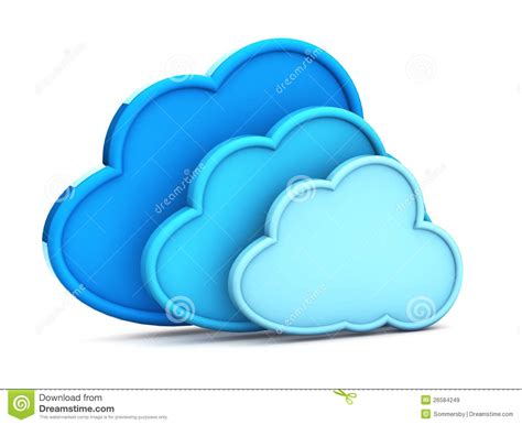 3d cloud 3d cloud computing icon royalty free stock images image