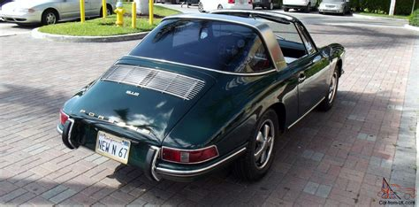 porsche dark green 1967 porsche 912 targa dark green with black interior