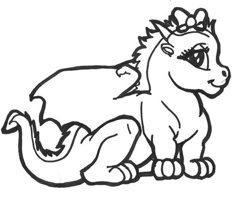 coloring pages of cute dragons cute baby dragon coloring page coloring pinterest